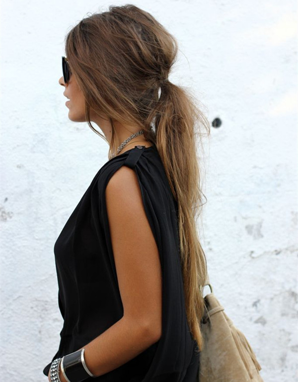 Low-Messy-Ponytail-Hairstyle-for-brown-long-hair-girls